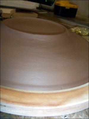 Готовая отформованная тарелка