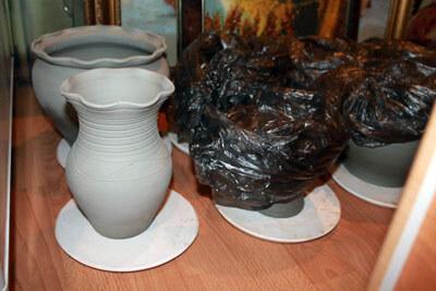 медленная сушка глиняных изделий