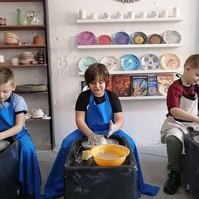 Дети за гончарным кругом Profi-Max-M