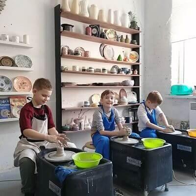 работа на гончарном круге дети