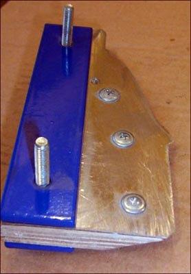 шаблон для проточки гипсовой формы