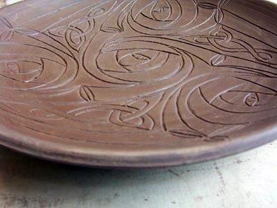 Готовая тарелка с рисунком