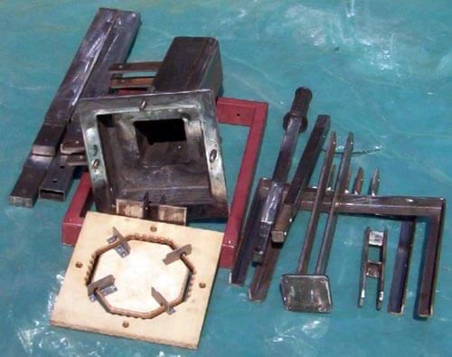 Комплект деталей для сборки ручного пресса